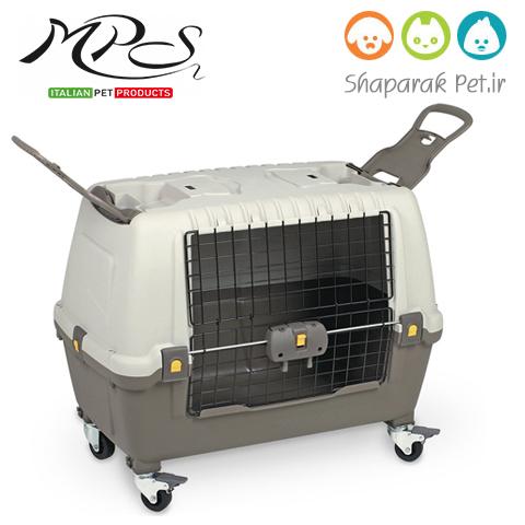 باکس سگ حمل هوایی و ماشین چرخدار