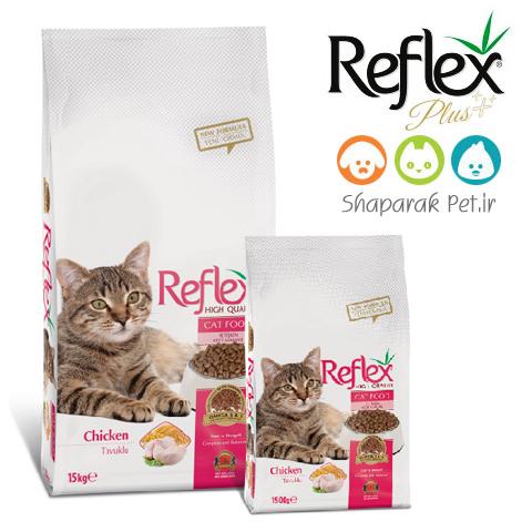 غذای گربه رفلکس