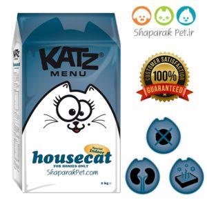 عذای گربه بالغ داخل خانه کتز