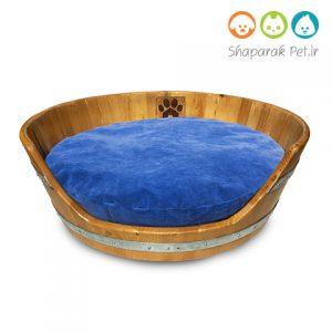 جای خواب چوبی سگ همراه با تشک