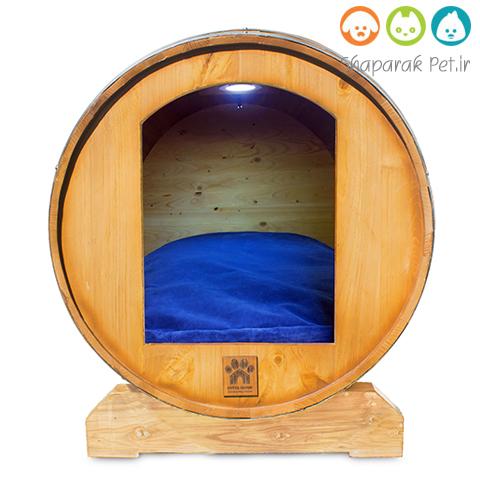 خانه چوبی سگ همرا با تشک و سیستم روشنایی و گرمایشی