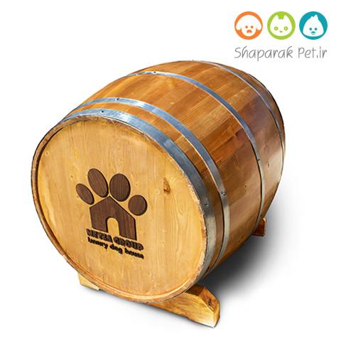 خانه چوبی سگ همراه با تشک و سیستم روشنایی و گرمایشی