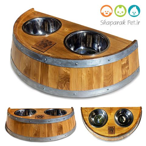 ظرف غذای چوبی سگ
