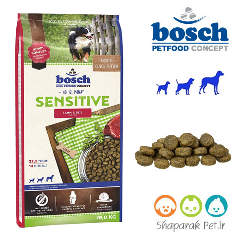 غذای سگ بوش ادالت برای سگهای حساس به غذا و مشکل گوارش